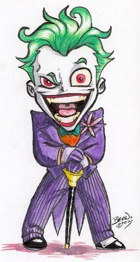 Pingl par alessandra manos sur baby superheroes - Le joker dessin ...