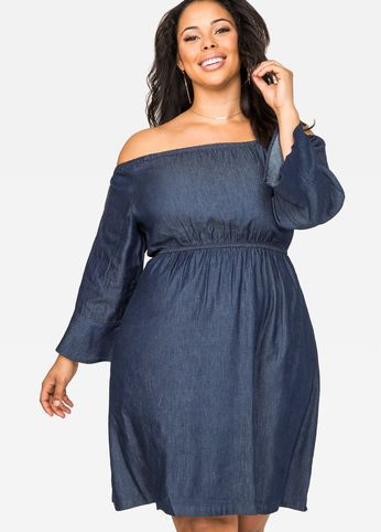 off shoulder denim dress | to dress the queen | pinterest | denim