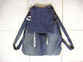 Back to School DIY - Backpack from Jeans | I Wear a Bow