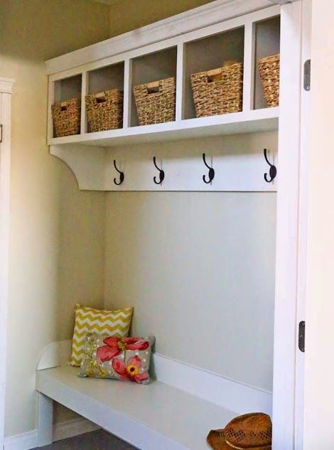 Large Custom Mudroom Organizer With Cubbies And Hooks Mudroom Organization Home Mudroom Cubbies