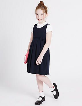 f4453299f Girls' Cotton Rich Knitted Pinafore | GIRLS SCHOOL GROUP | School ...