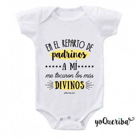 Body Personalizado Bebé Mis Padrinos Los Más Divinos