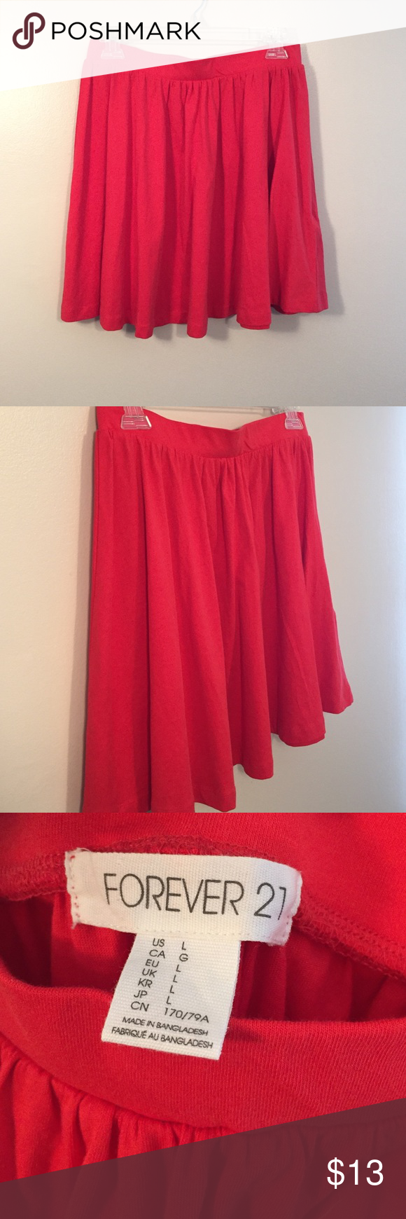 ♥️ flirty flowing skirt ♥️ Never worn! Perfect condition, you can dress it up or dress it down, super comfy, and cute! Make me an offer. 😘 Forever 21 Skirts Circle & Skater