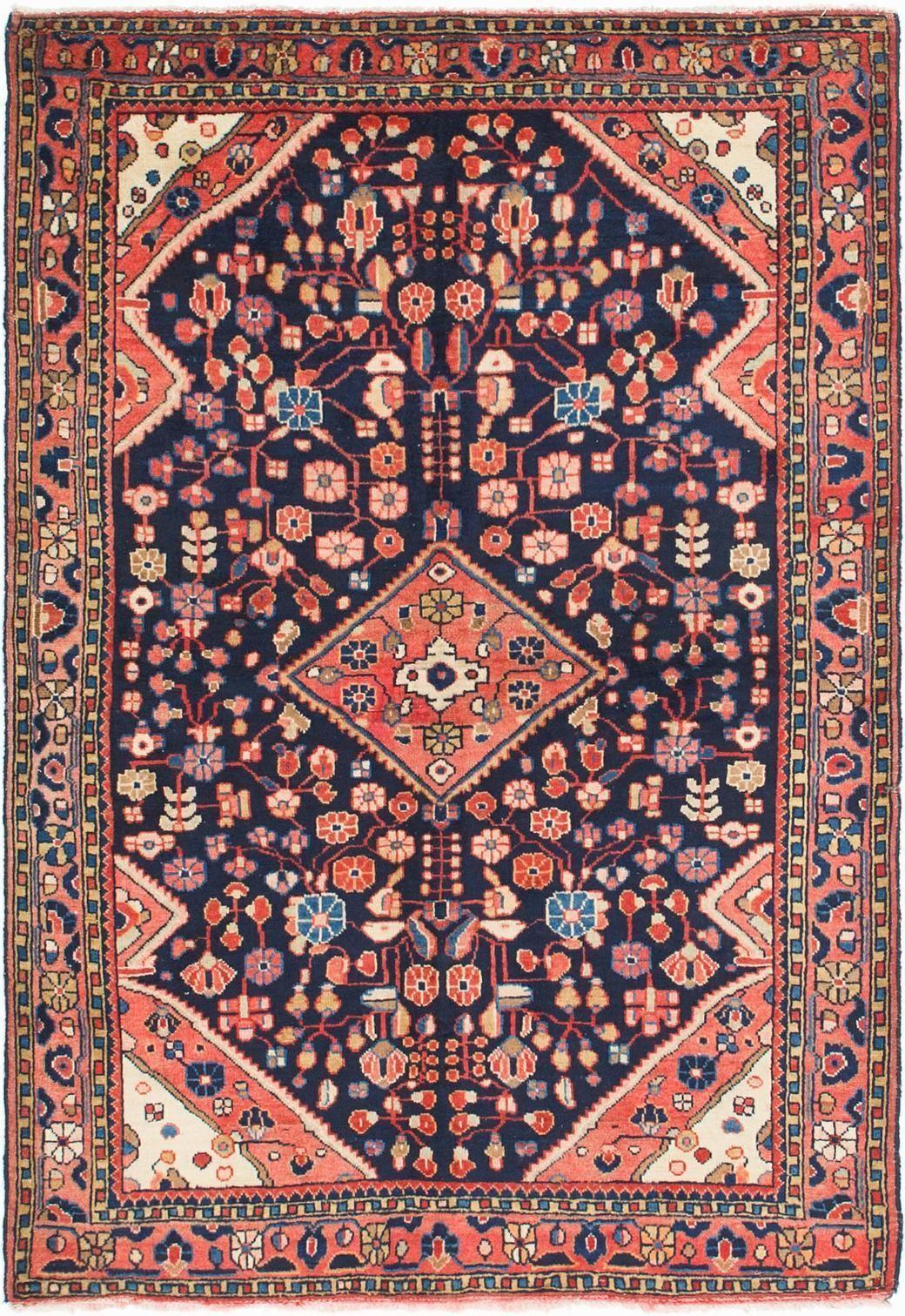 Navy Blue 3 10 X 5 7 Farahan Persian Rug Persian Rugs Esalerugs With Images Rugs Persian Rug Persian