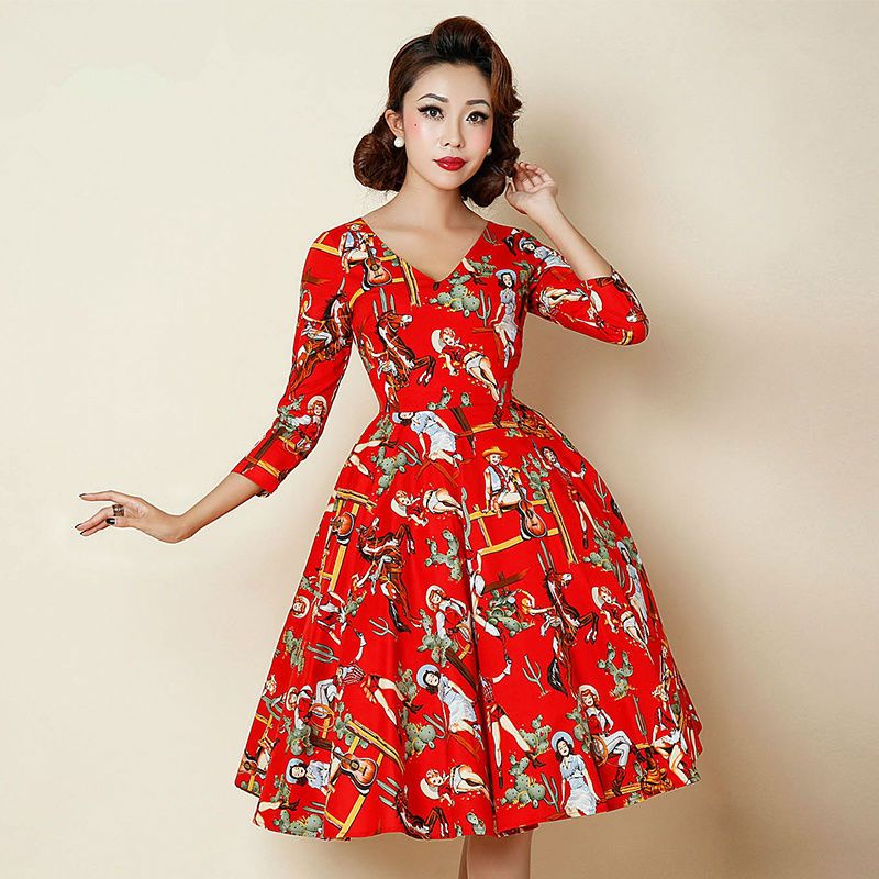 Dress fashion 1950s style dresses