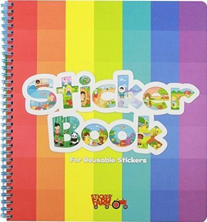Original Sticker Book For Reusable Stickers Large Soft Cover