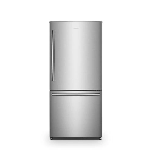 Hisense 17 1 Cu Ft Counter Depth Bottom Freezer Refrigerator Stainless Steel Energy Star Lowes Com Bottom Freezer Stainless Steel Refrigerator Bottom Freezer Refrigerator