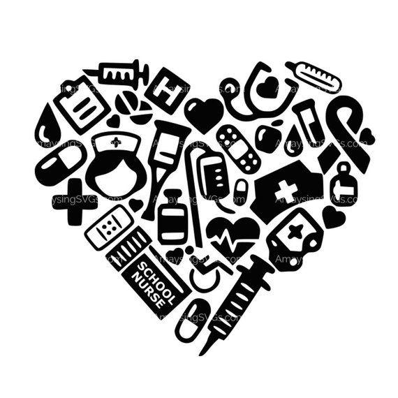 SVG School Nurse icon Heart svg School Nurse svg School