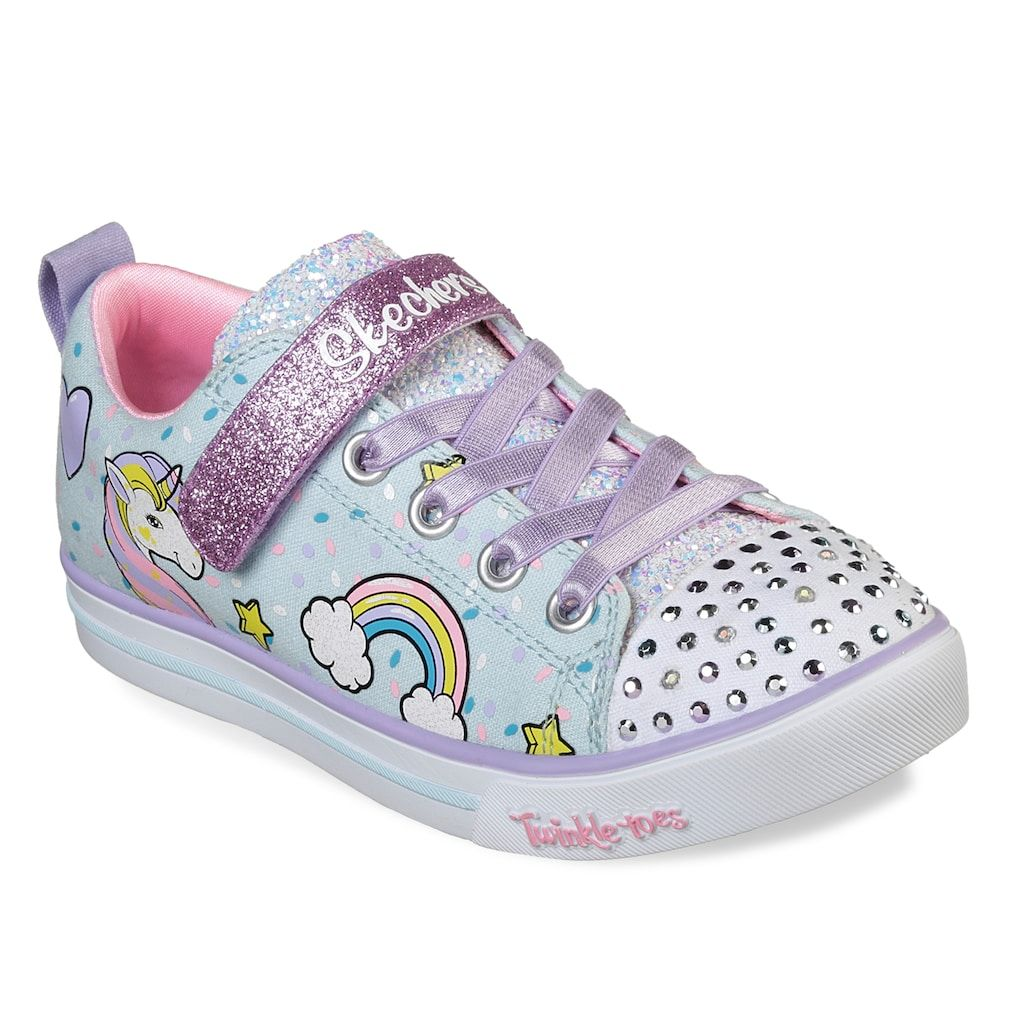 91810334ec5f Skechers Twinkle Toes Shuffles Sparkle Lite Unicorn Girls' Light Up Shoes,  Med Red