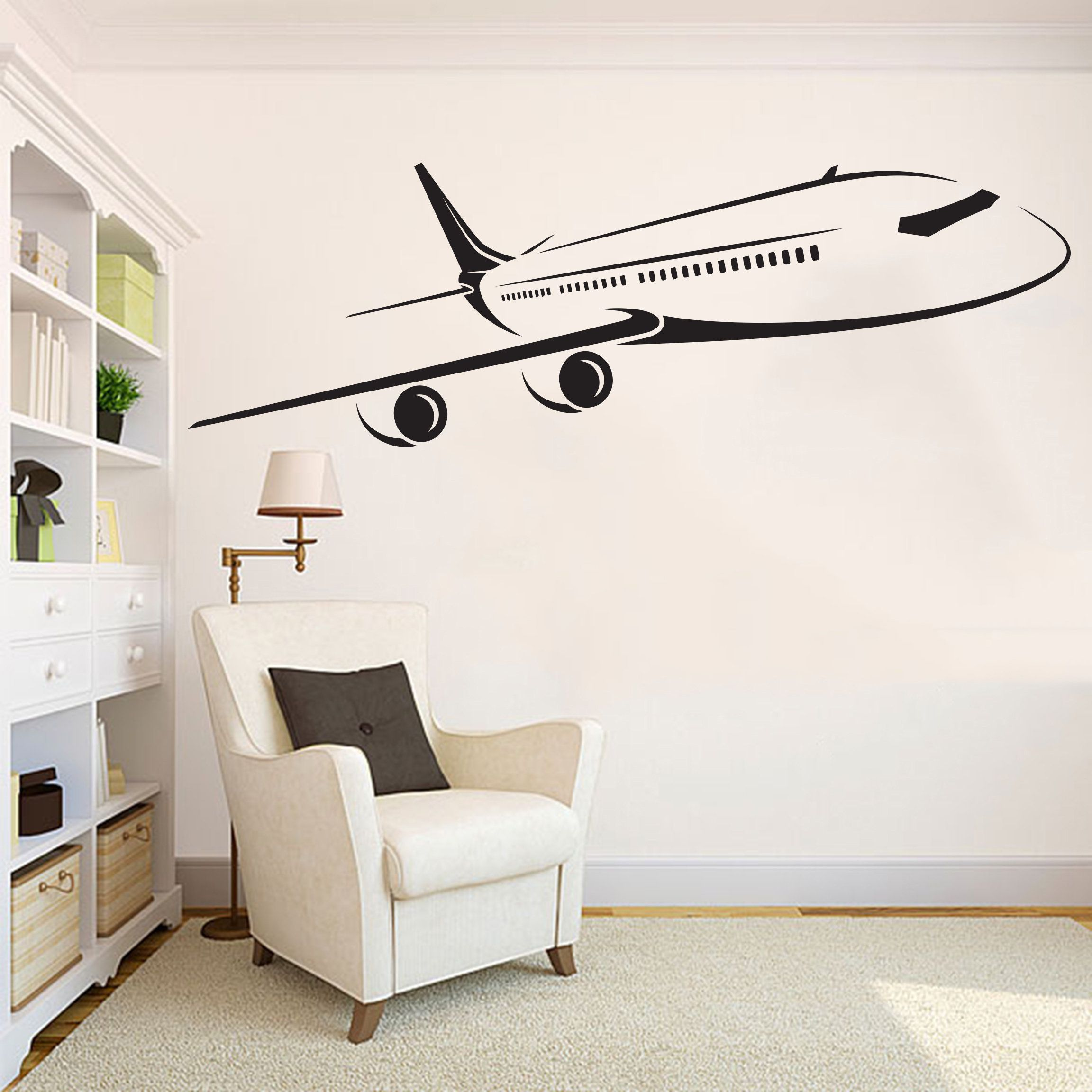 Airplane Wall Decal Airplane Decor Airplane Sticker Etsy Nursery Wall Decals Aviation Room Decor Airplanes Wall Decals [ 2304 x 2304 Pixel ]
