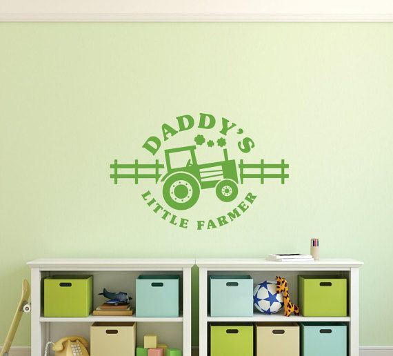 ... Kids Decal - Wall Quotes - Tractor Wall Decor - Vinyl Lettering - Wall Decal - Playroom Perfect NURSERY Decor for your Little Farmer! JOHN DEERE Decal  sc 1 st  Pinterest & Daddyu0027s Little Farmer Decal - Boys Wall Decal - Kids Decal - Wall ...