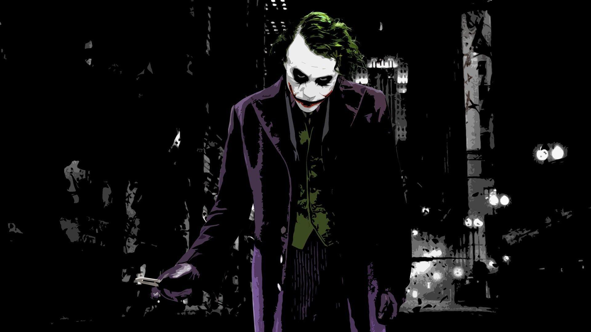 Digital Art Batman Begins Joker Knife Butterfly Knives Batman