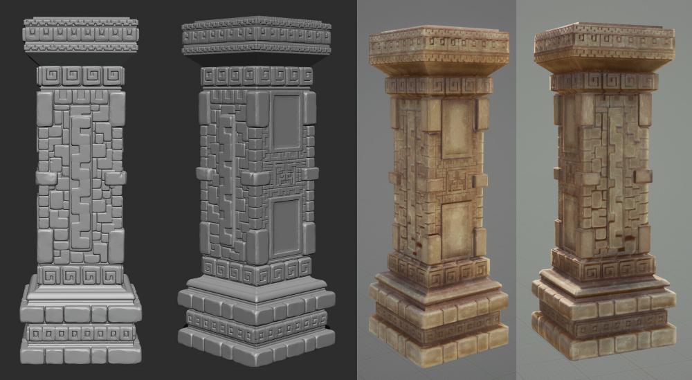 Artstation Aztec Stone Pillar Bridget Wright Stone Pillars Pillars Stone