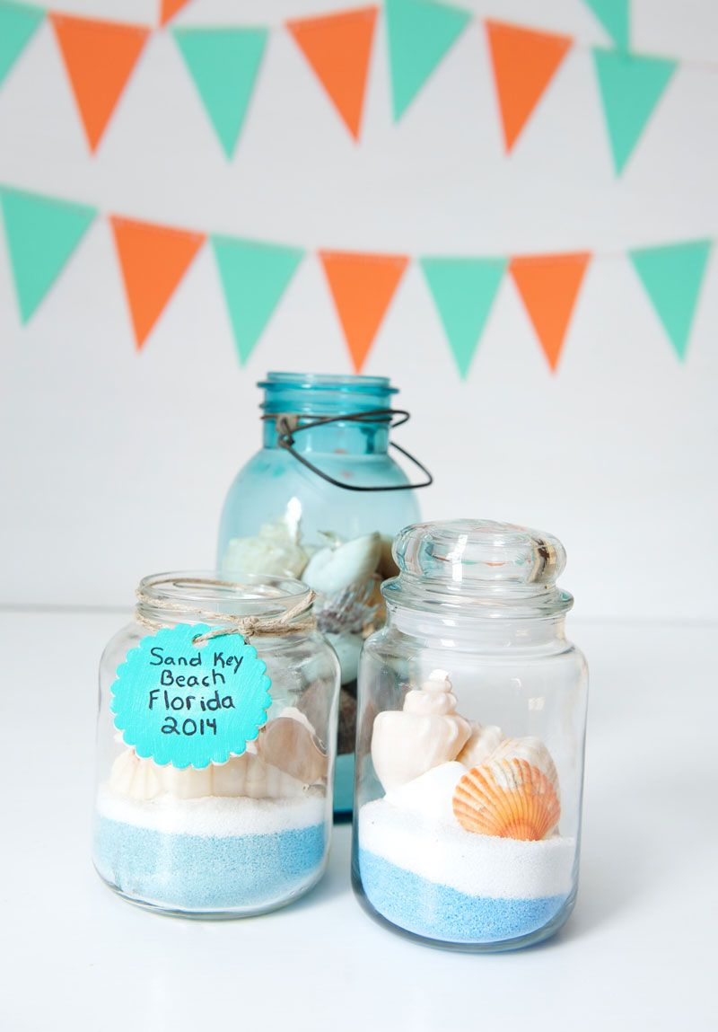 Beach Craft Ideas For Kids Part - 23: DIY Kids Beach Memory Jars (to Store Collectables From Vacation).