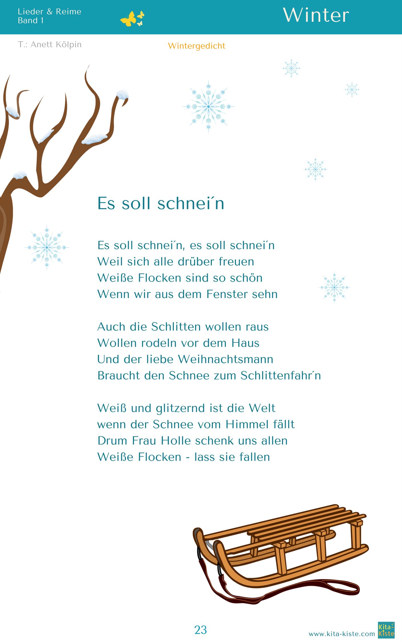 Es Soll Schnei N Winter Gedicht Aus Lieder Reime 1 Www Kitakiste Jimdo Com Winterfensterdekokinder Es Soll Schn In 2020 Gedicht Weihnachten Gedichte Reime