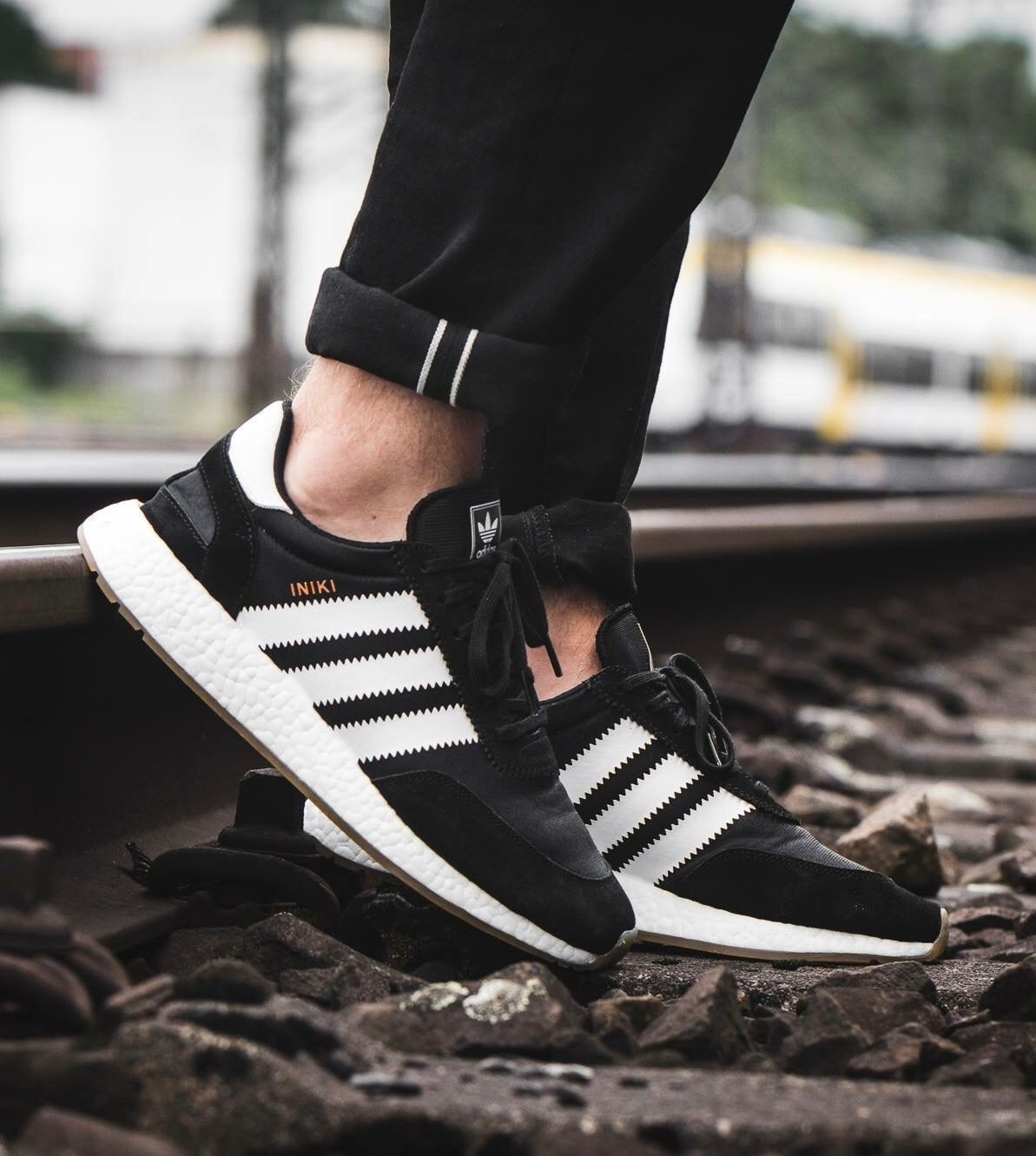 new concept 2d17b 92854 adidas Originals Iniki Runner Black