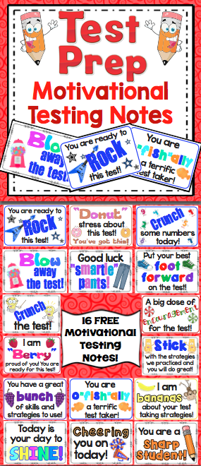 photograph relating to Encouraging Notes for Students During Testing Printable called Pin upon 3rd Quality Imagine Tank