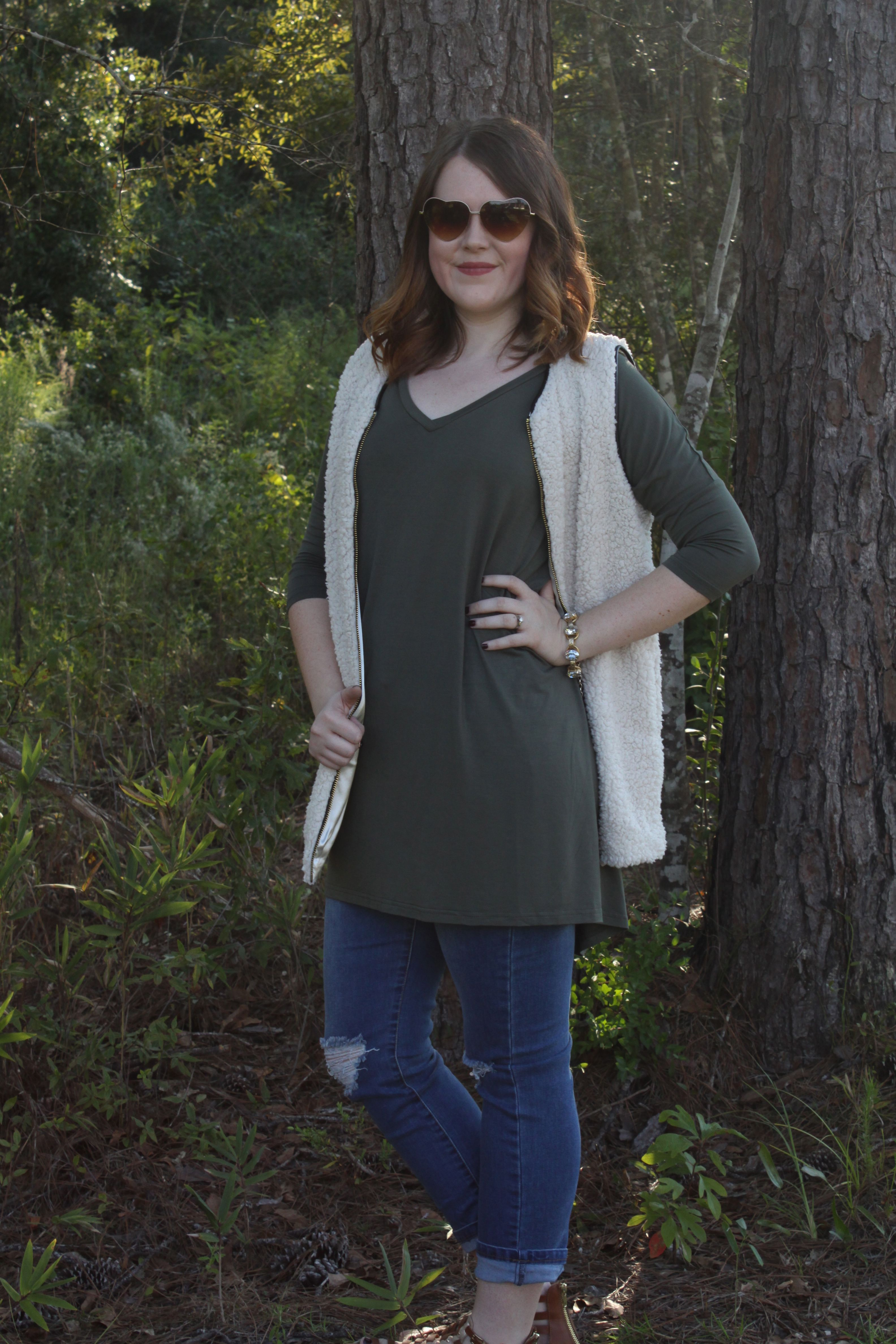 PIKO + Cloud 9 Vest + Kendall Skinny Jeans = Perfect fall outfit.