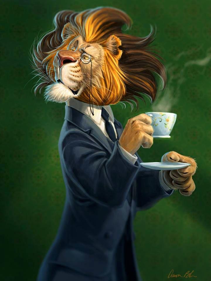 картинки человека с головой льва японской
