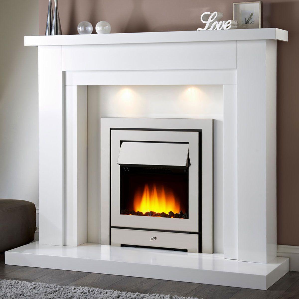 Bolero White Electric Fireplace Suite Fireplace Electric