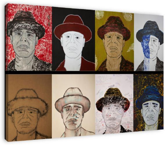 Collage, ode aan Joseph Beuys