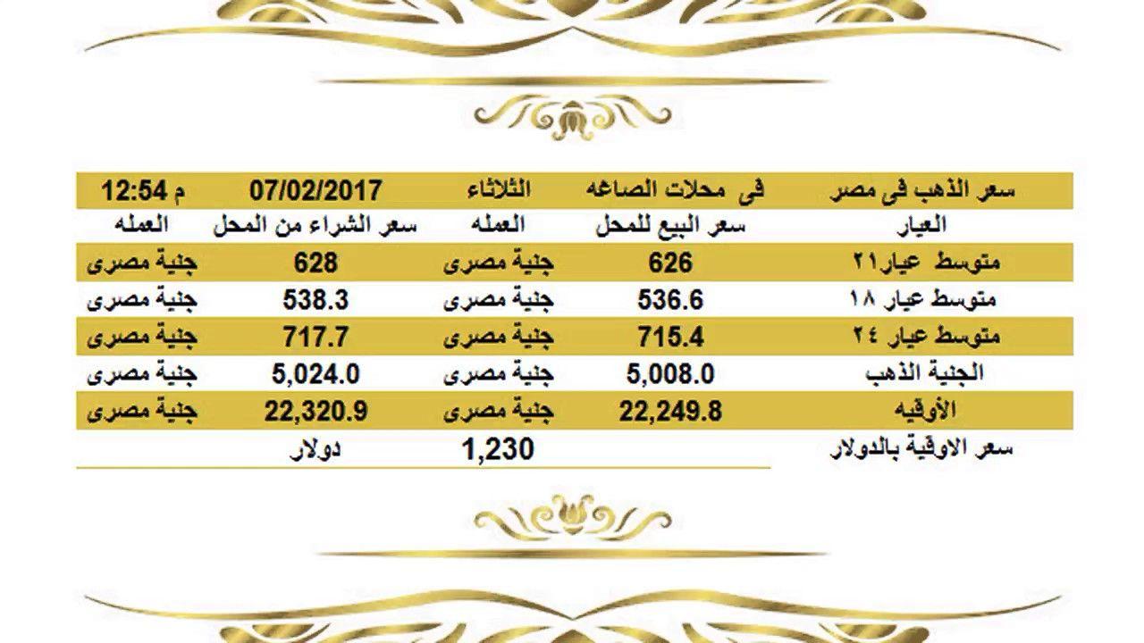 انخفاضفىسعرالذهباليومفيمصرالثلاثاء622017عيار21وعيار18وعيار24الساعة1 05مساء أسعار الذهب اليوم الثلاثاء في مصر 7 2 2017 أسعار الذهب اليوم Gold Rate Jye Gold