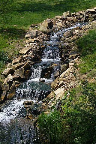 Man Made Waterfall Homemade Waterfall Waterfalls Backyard