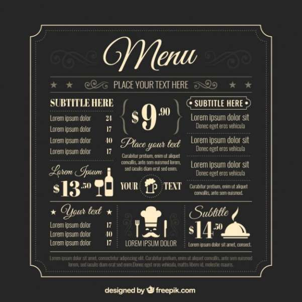 Free Food  Restaurant Menu Templates  Xdesigns   Day