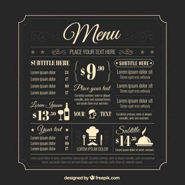 50 Free Food \ Restaurant Menu Templates - XDesigns 17 day - menus templates free