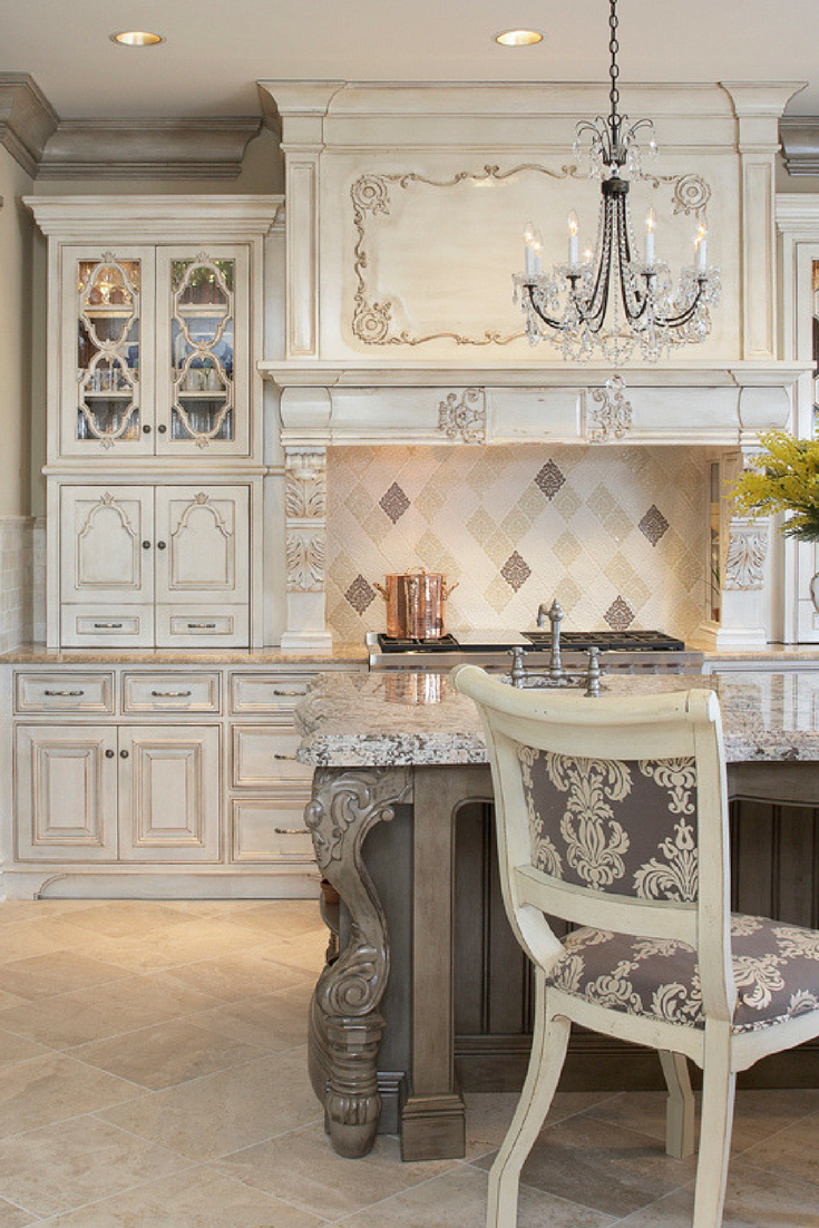 Best Beautiful Luxury Kitchen With Damask Handmade Tile In 2020 400 x 300