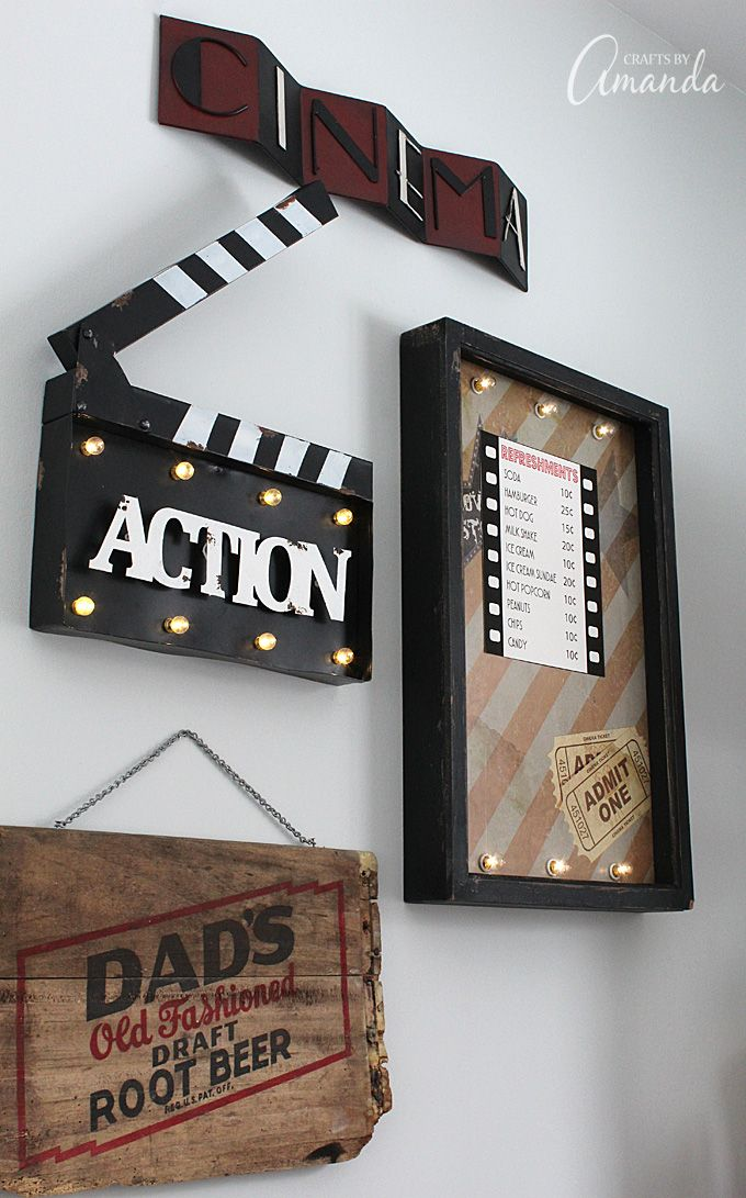 How To Decorate Your Family Room Part - 39: Decorate Your Family Room With Movie Theater Themed Decor For A Fun Mini  Theater Room Experience