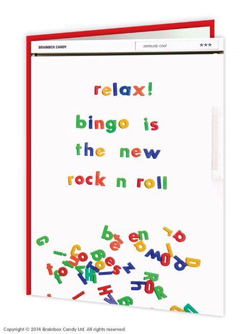 Bingo Rock N Roll Birthday Card Well Cool Cards Pinterest Rock