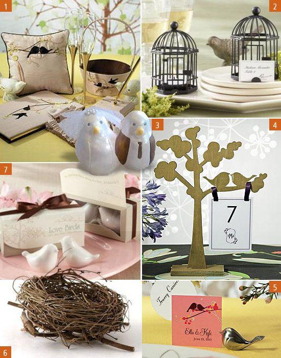Love Bird Theme Wedding Decorations For