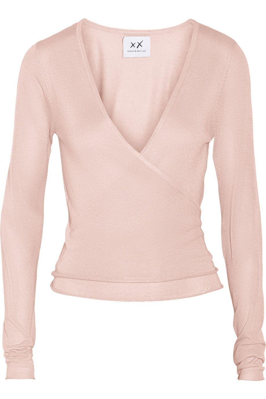 80e3f630d Banjo & Matilda | Ballet silk and cashmere-blend wrap cardigan |  NET-A-PORTER.COM