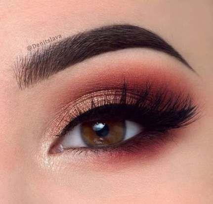 Wedding Makeup Gold Pink Smokey Eye 65+ Ideas
