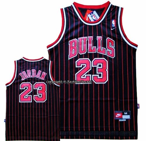 pretty nice 70ab5 fd7bc NBA CHICAGO BULLS Michael Jordan #23 Black Stripe Basketball ...