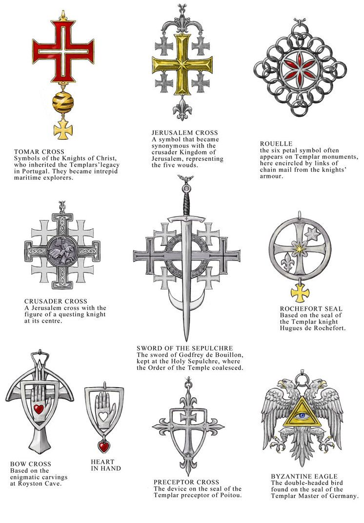 These Are Designs For The Talismans Of The Knights Templar