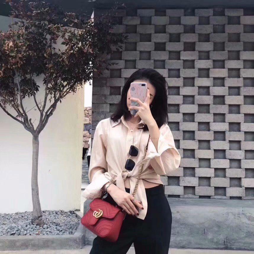 3ad1fcb97cb8 2019 的 GG Marmont mini top handle bag | Brand bag 主题 | Gucci ...