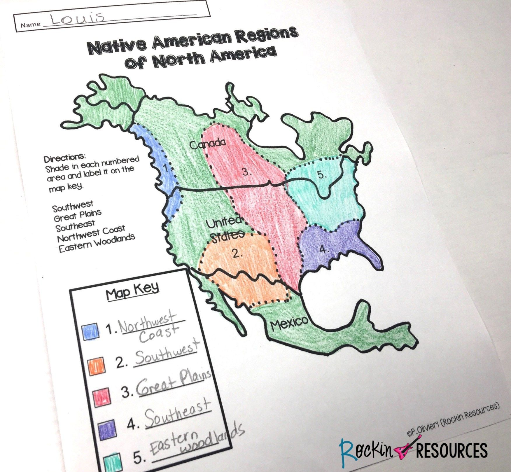 Native American Unit - Rockin Resources   Native american history lessons [ 1618 x 1752 Pixel ]