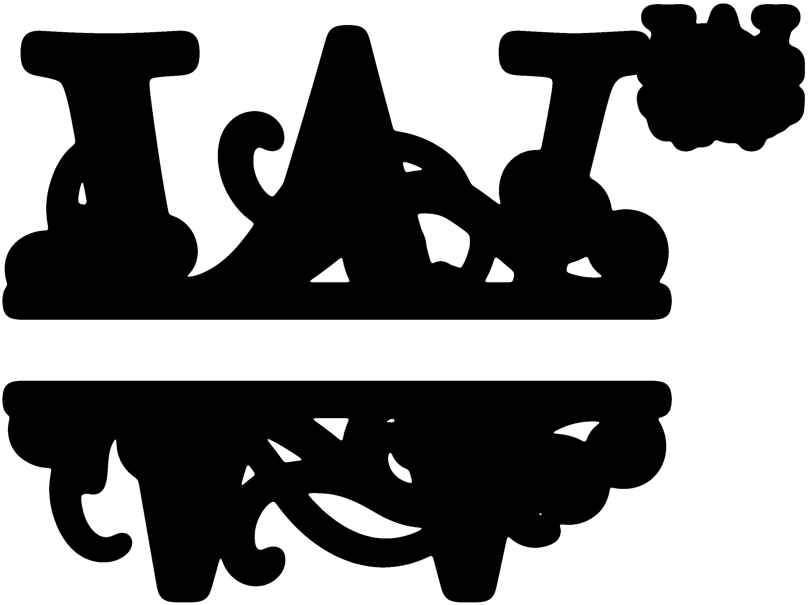 """W"" Split Monogram Monogrammen, Sjablonen, Initialen"