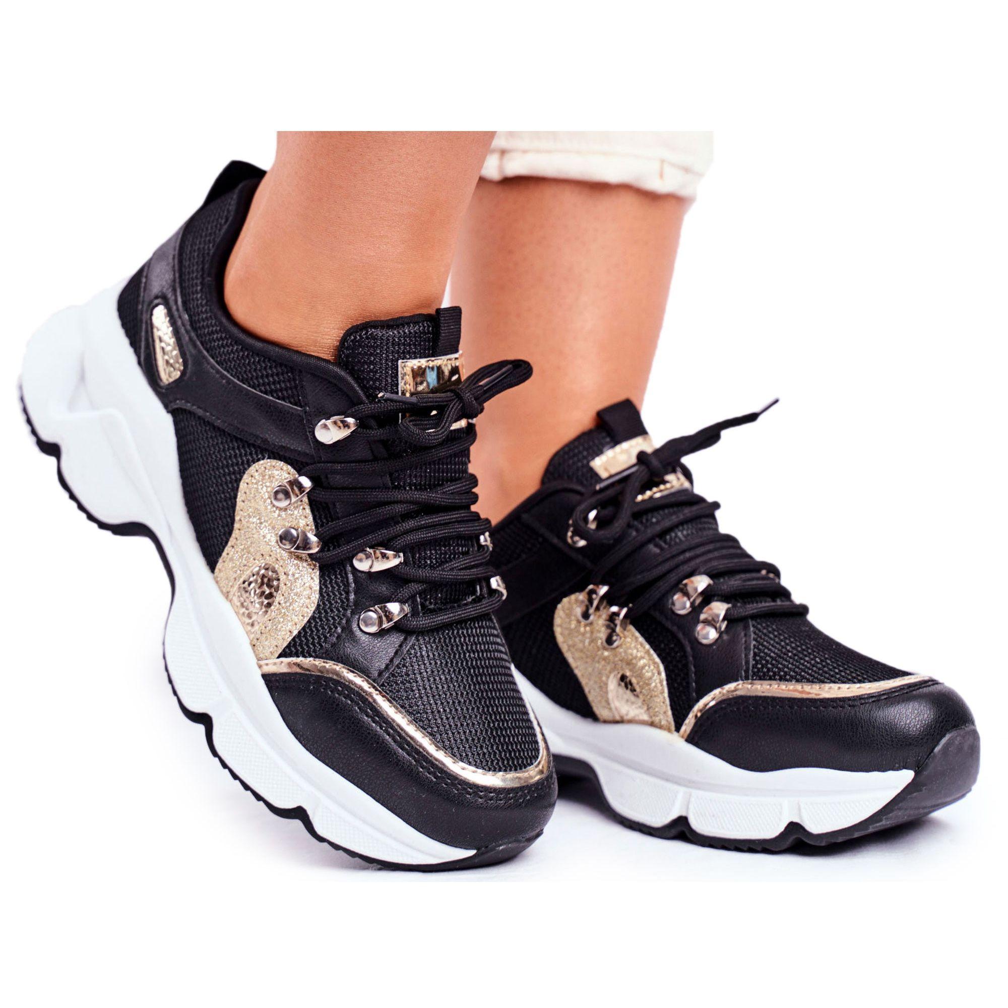Sea Sportowe Damskie Buty Czarno Zlote Beijing Czarne Zolte Sneakers Nike Shoes Sneakers