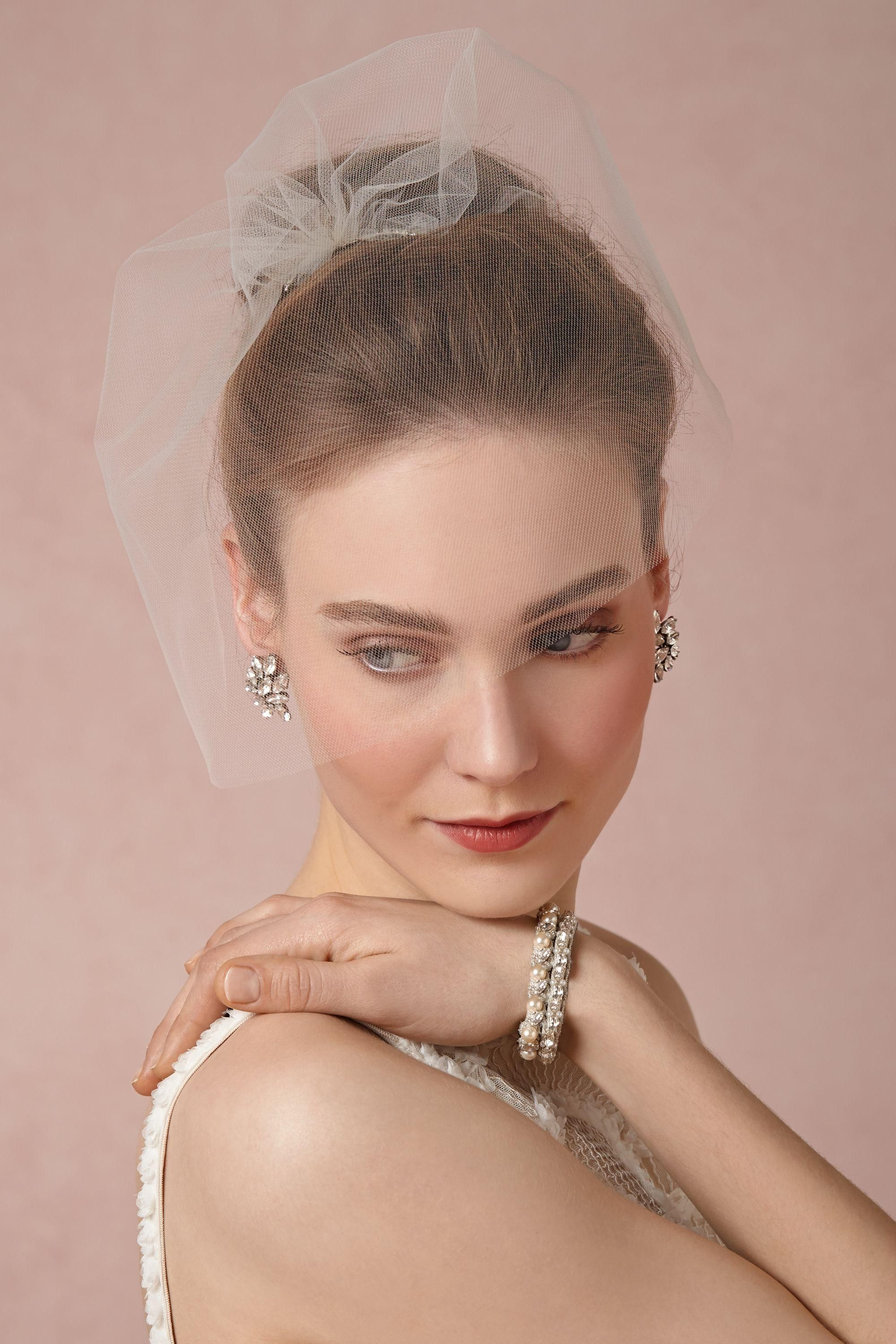 This veil, from BHLDN, is cute! Right length for what your were ...