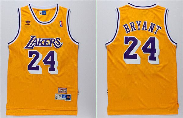 38e4dc893c91 Los Angeles Lakers  24 Kobe Bryant Yellow Hardwood Classics Soul Swingman  Throwback Jersey