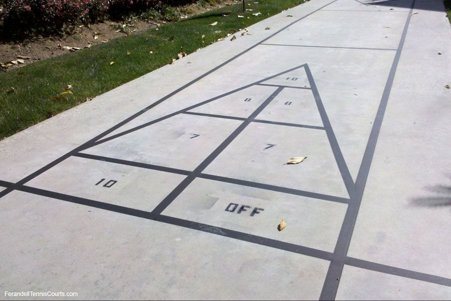Keeping It Simple Shuffleboard Court Simple Striping On Concrete
