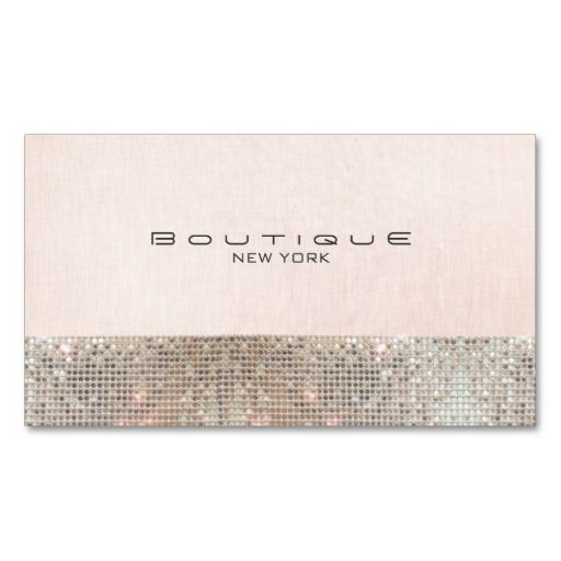 Faux sequins and linen cute pink chic boutique business card card faux sequins and linen cute pink chic boutique business card template reheart Choice Image