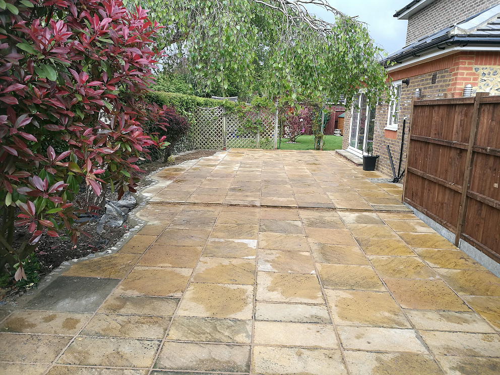 Recycling Old Pavers And Laying New Patio Old Coulsdon Garden Maintenance Garden Landscape