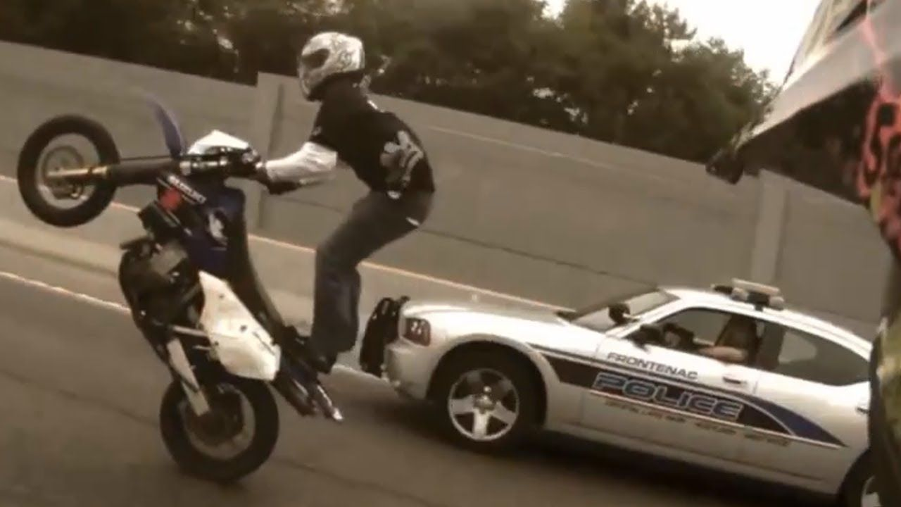 Motorcycle Stunts Ride Of The Century Roc Bike Vs Police Street