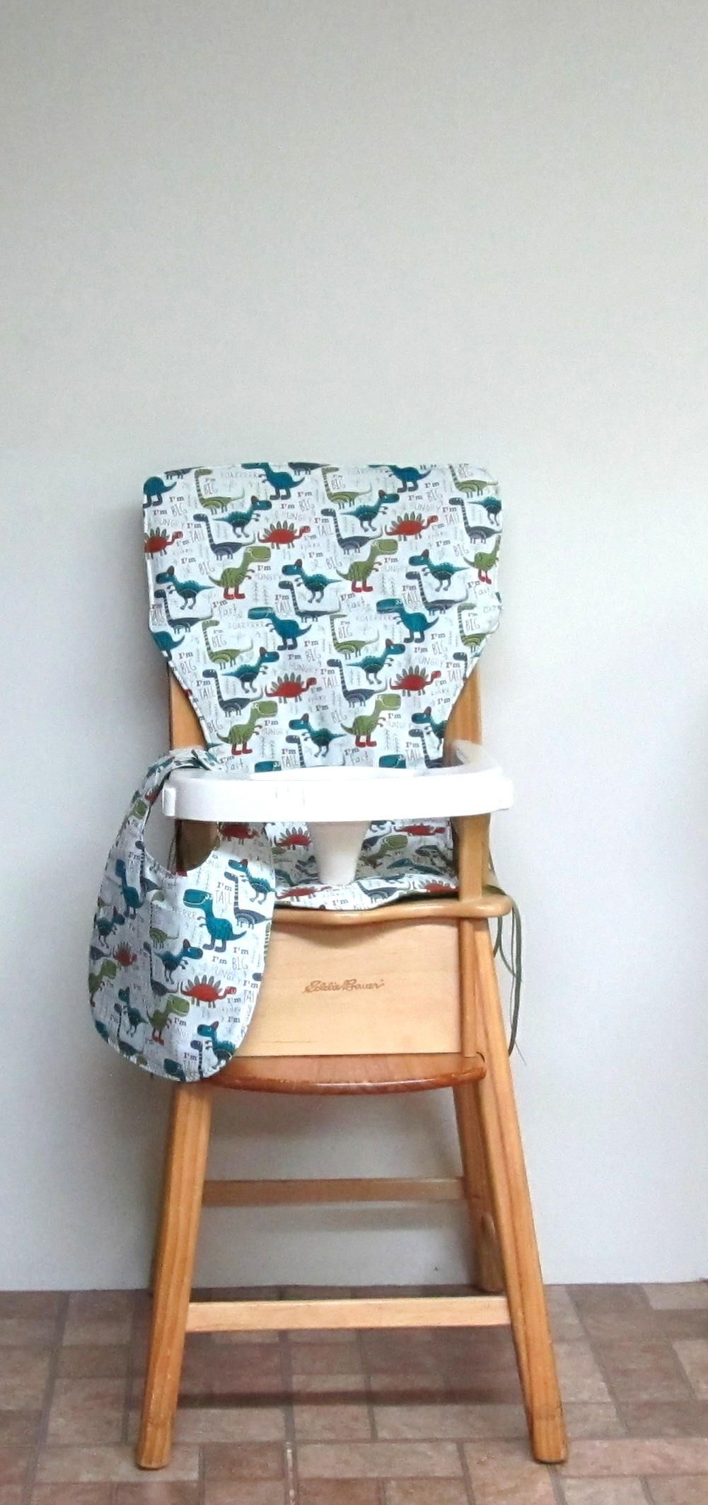 custom eddie bauer wooden high chair cushion big and tall with