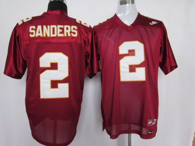 ncaa jerseys florida state seminoles 2 deion sanders red color jersey