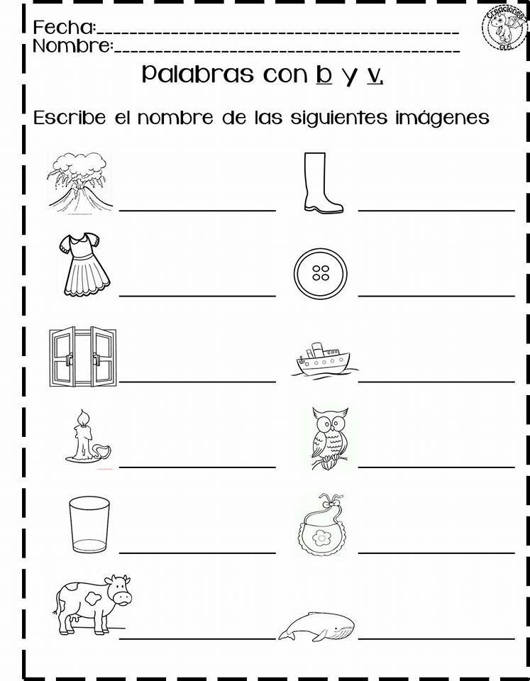 Excelentes Actividades Para Trabajar La Escritura Correcta De Palabras Con B Y V Educación Primar Palabras Con B Actividades De Lectura Actividades De Letras